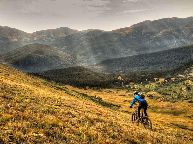 Mountain biking near Breckenridge
