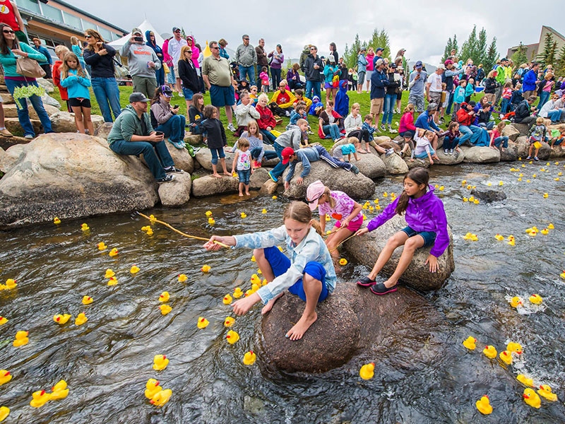 Blue River on Labor Day weekend with rubber ducks
